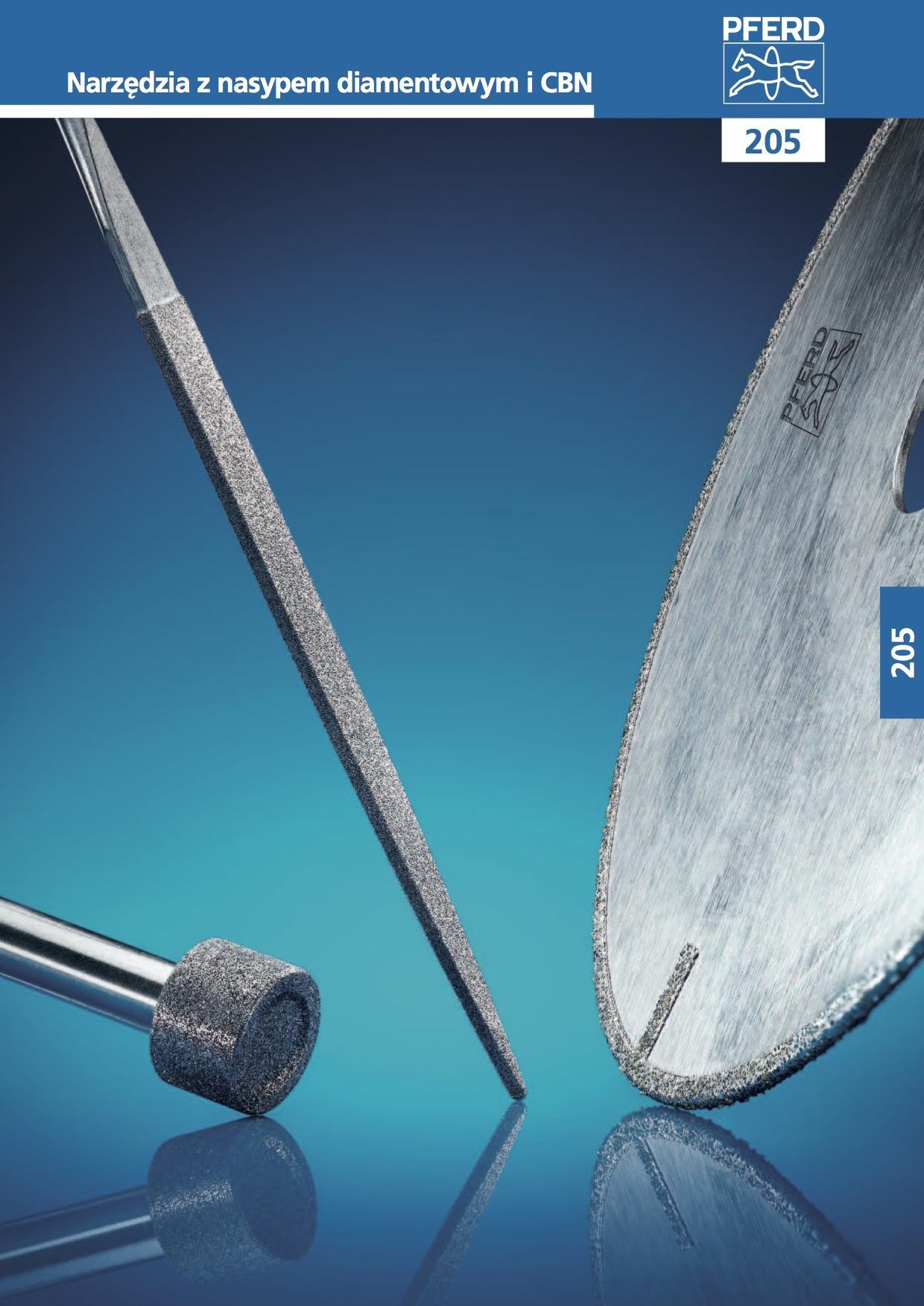 205 Narzędzia z nasypem diamentowym i CBN