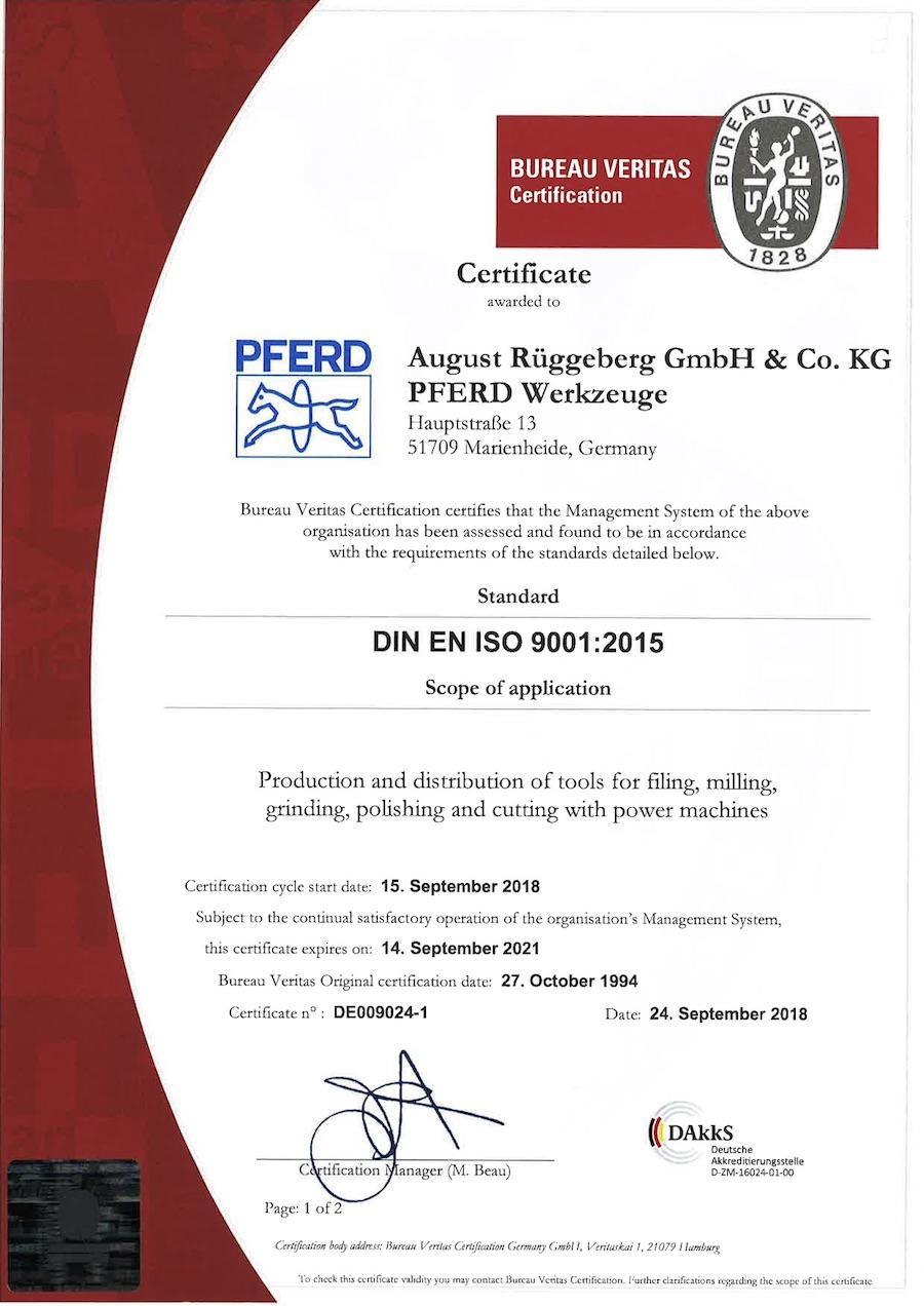 ISO9001:2015-Englisch