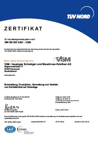 Certyfikat ISO 9001:2008