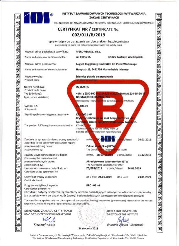 Certyfikat B nr 2