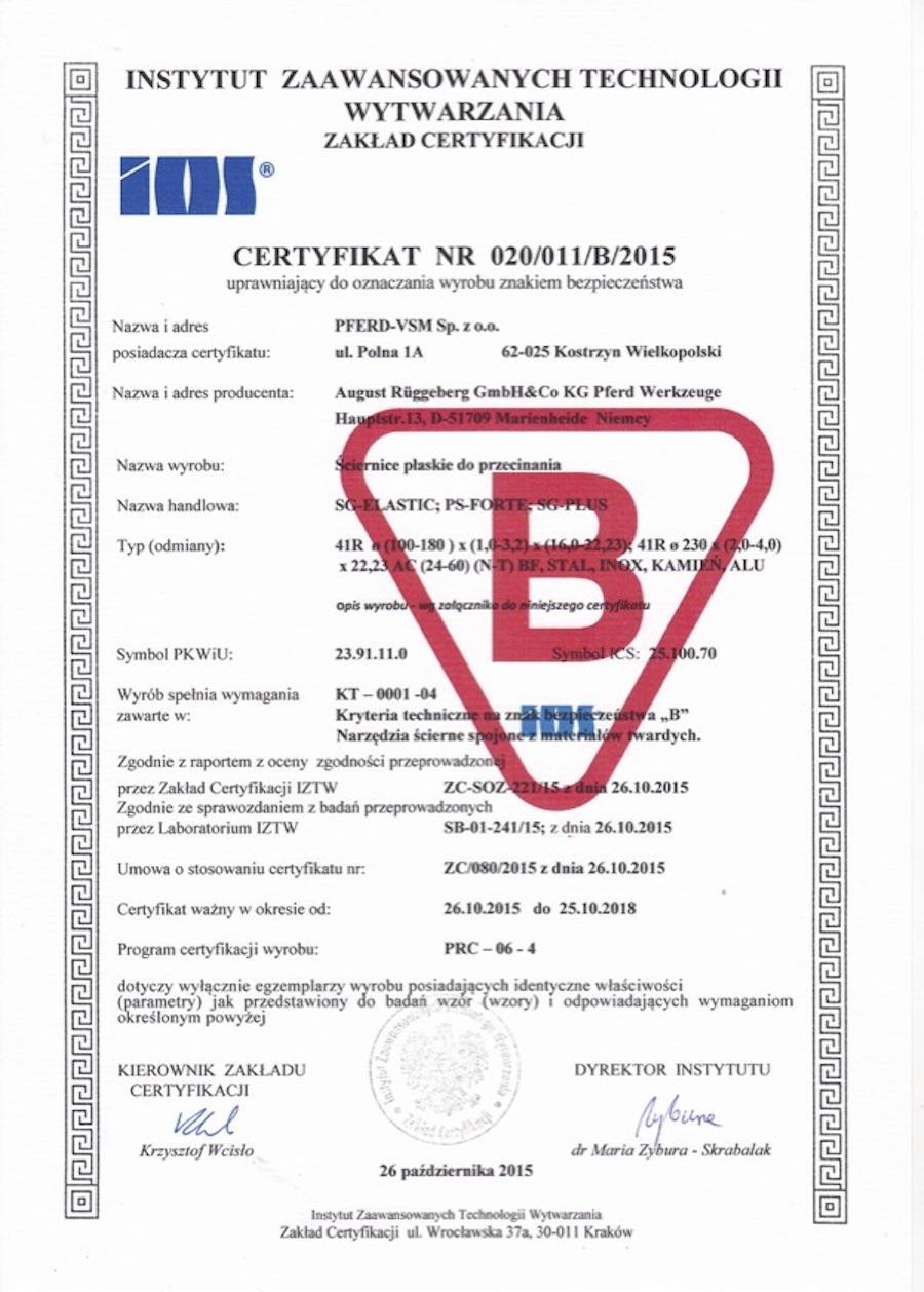 Certyfikaty B do 2018